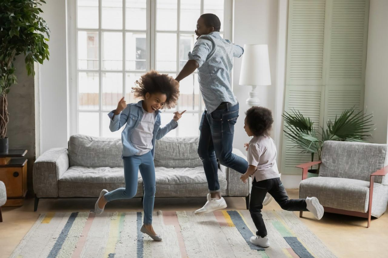 Family Dancing to Sound System